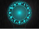 Макет часы круглые для светильника