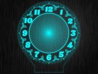 Ночник часы круглые из акрила на светодиодной подставке
