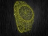 """3D ночник """"Часы"""" на светодиодной подставке"""