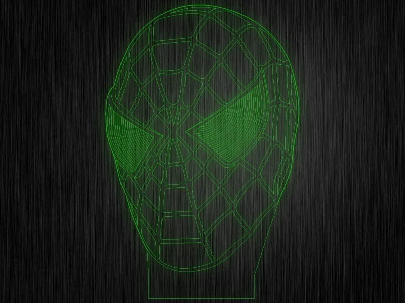 """Ночник """"Человек паук"""" №879 на светодиодной подставке"""