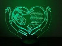 Макет сердце в руках №907 для светильника