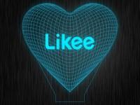 "3D ночник ""LIKEE"" на светодиодной подставке"