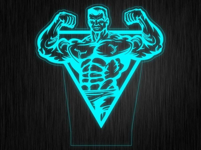 """Ночник """"Body builder №931"""" на светодиодной подставке"""