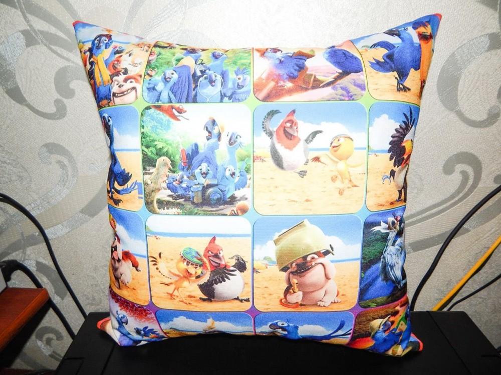 Подушка с фотопечатью 39*39 см, габардин, холофайбер, без молнии и наперника