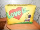 "Подушка с фотопечатью 30*40*15 см, ""Love is"", габардин, холофайбер"