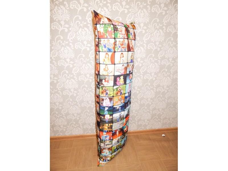 Подушка с фотопечатью 50*140 см, габардин, холофайбер, с молнией и наперником