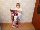 Подушка 40*100 см, перовой тик, габардин, микропух, с молнией и наперником