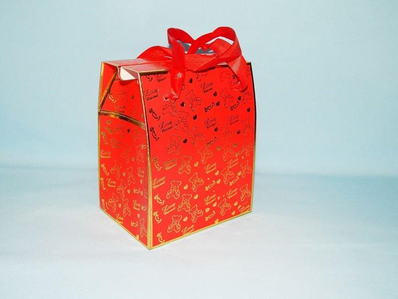 """Коробка для кружки Красная """"Love""""  с окном"""