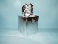 "Коробка для кружки с вырезом ""Сердце"" СЕРЕБРО"