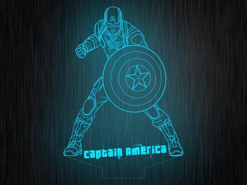 """Макет """"Капитан америка №265"""" для светильника"""