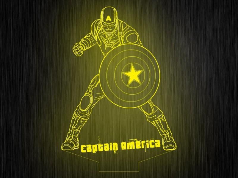 """Ночник """"Капитан америка №265"""" на светодиодной подставке"""