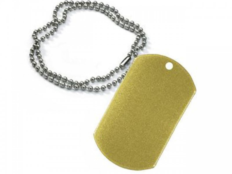 Жетон армейский 29*50 мм золото с цепочкой