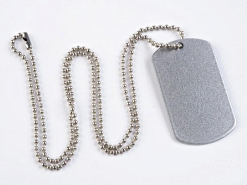 Жетон армейский 29*50 мм серебро с цепочкой
