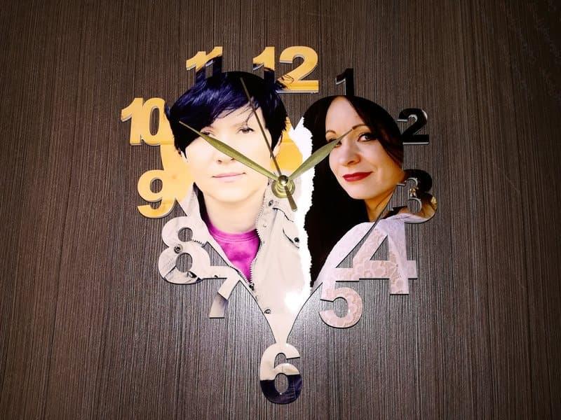 Часы деревянные СЕРДЦЕ 19х21 см