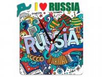 Часы металлические I Love Russia