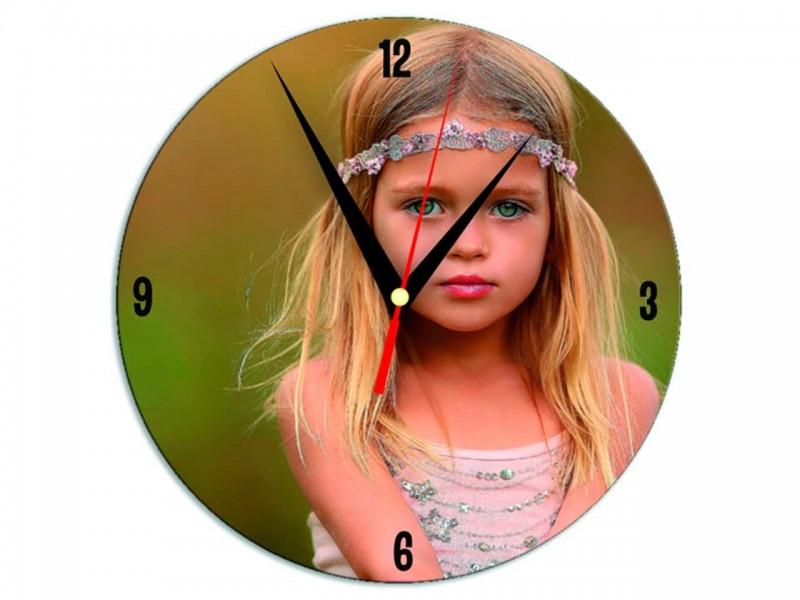 Часы металлические Круг