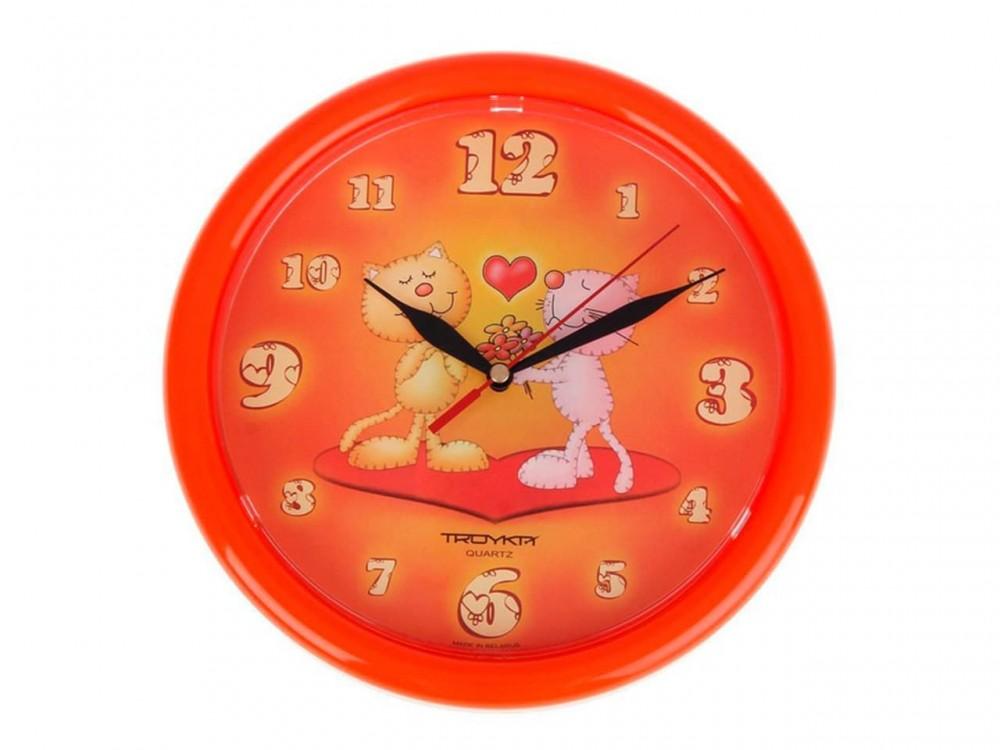 Часы Ч-22 (П6) круглые d=22см цветной ободок
