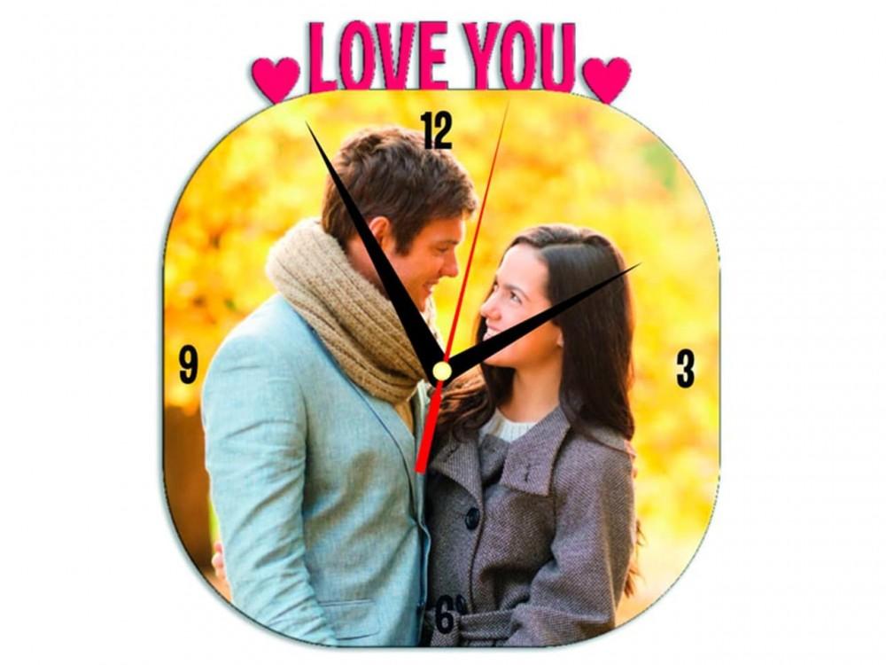 Часы металлические Love You