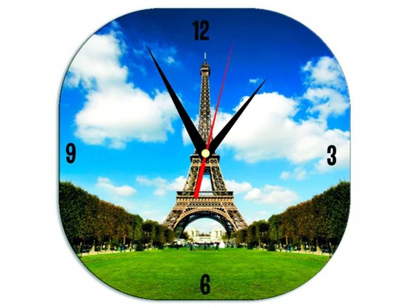 Часы металлические Квадрат с закругленными углами