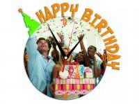Часы металлические Happy Birthday