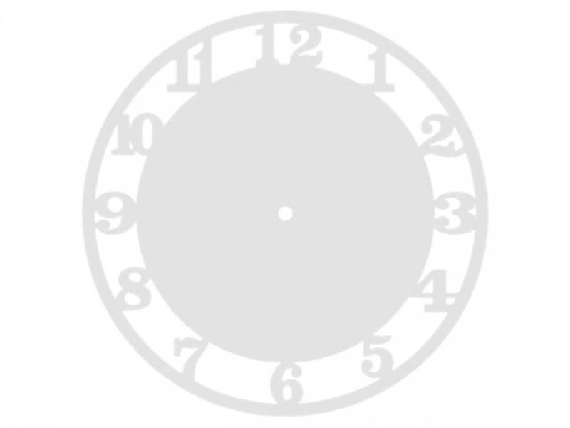 Часы деревянные ЦИФРЫ-2 27 см