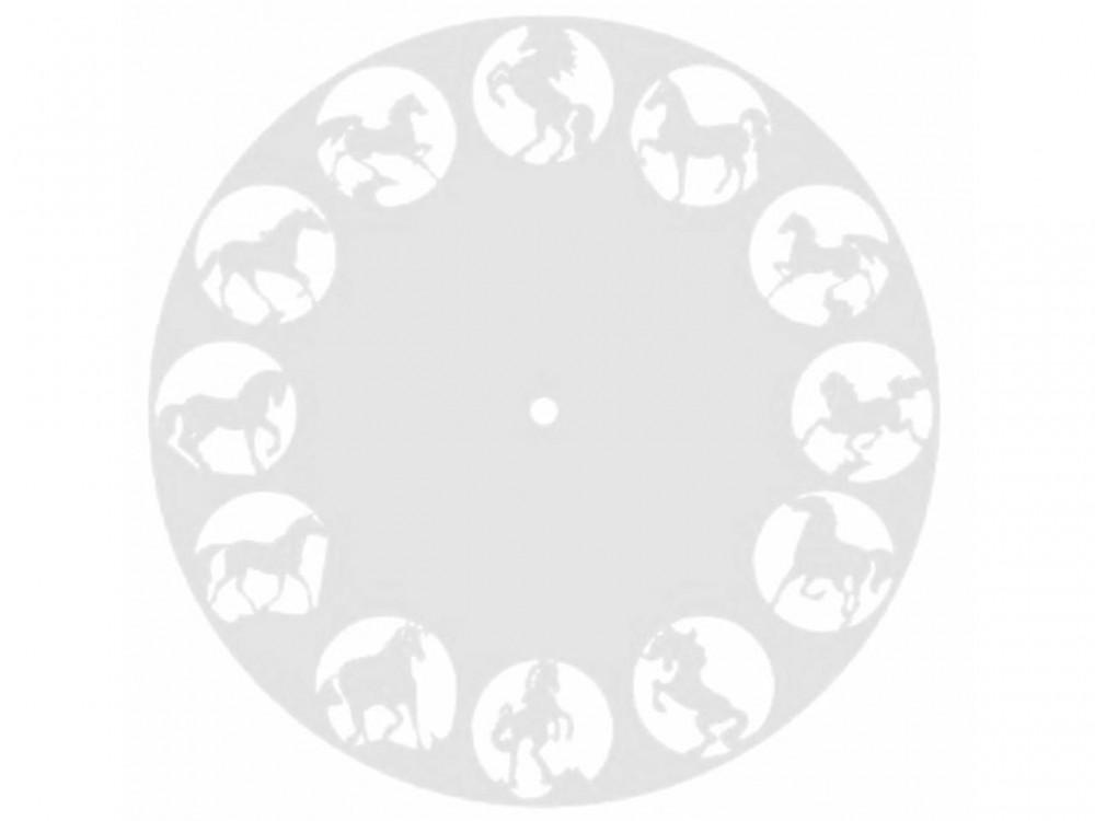 Часы деревянные КОНИ-1 27 см