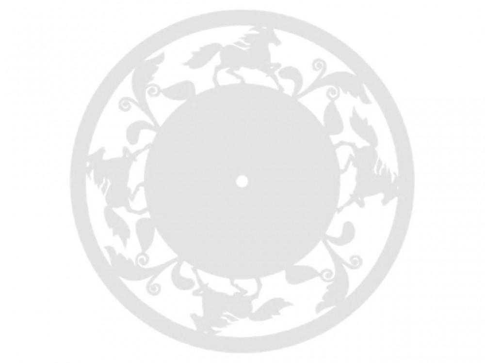 Часы деревянные КОНИ-2 27 см