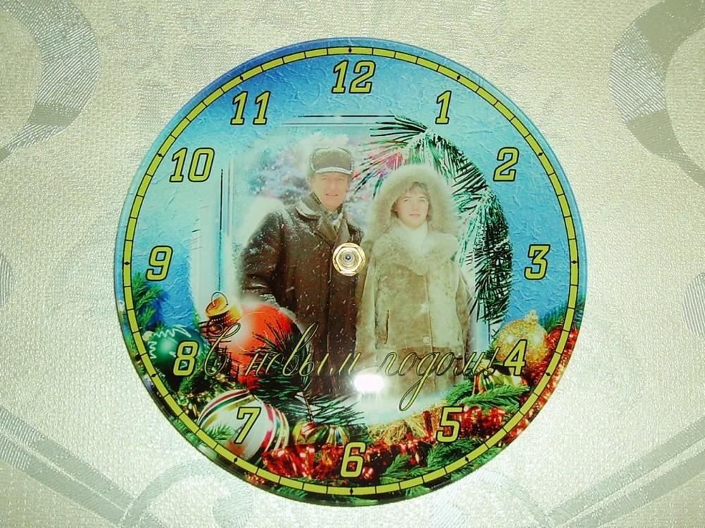Часы стеклянные круглые BL-27, d=18 см