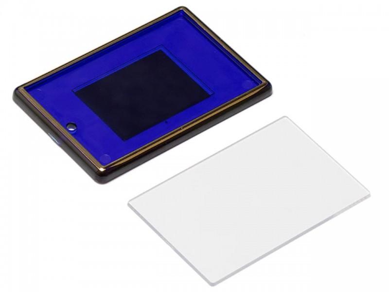 Акриловый магнит 52x77 синий с золотым тиснением