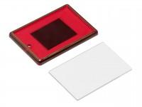 Акриловый магнит 52x77 красный с золотым тиснением