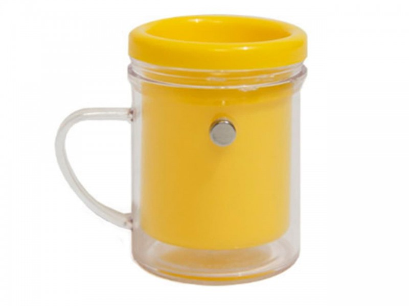 МАГНИТ кружка под вставку желтый