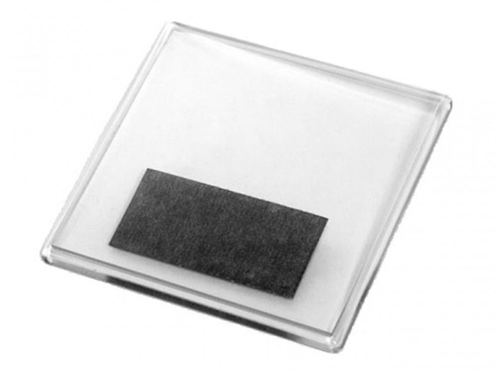 Акриловый магнит 100x100 прозрачный квадратный