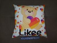 """Готовая подушка с фотопечатью 40*40 см """"Likee с медвежонком"""""""