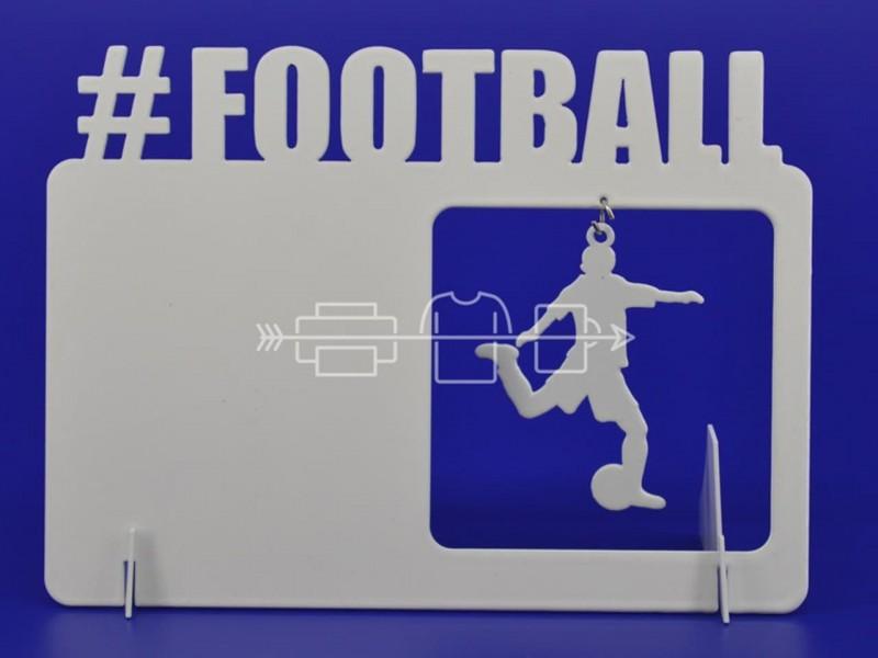 Фоторамка металлическая Футбол с подвеской