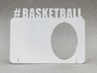 Фоторамка металлическая Баскетбол с подвеской