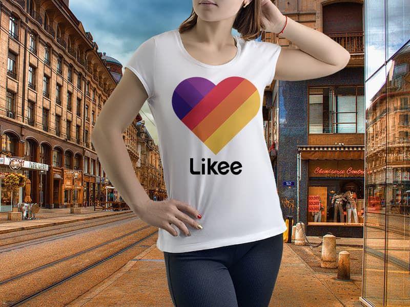 """Футболка с фотопечатью с принтом """"Likee логотип"""""""