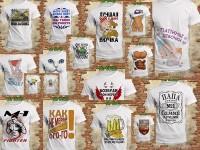 Коллекция готовых шаблонов на кружки и футболки