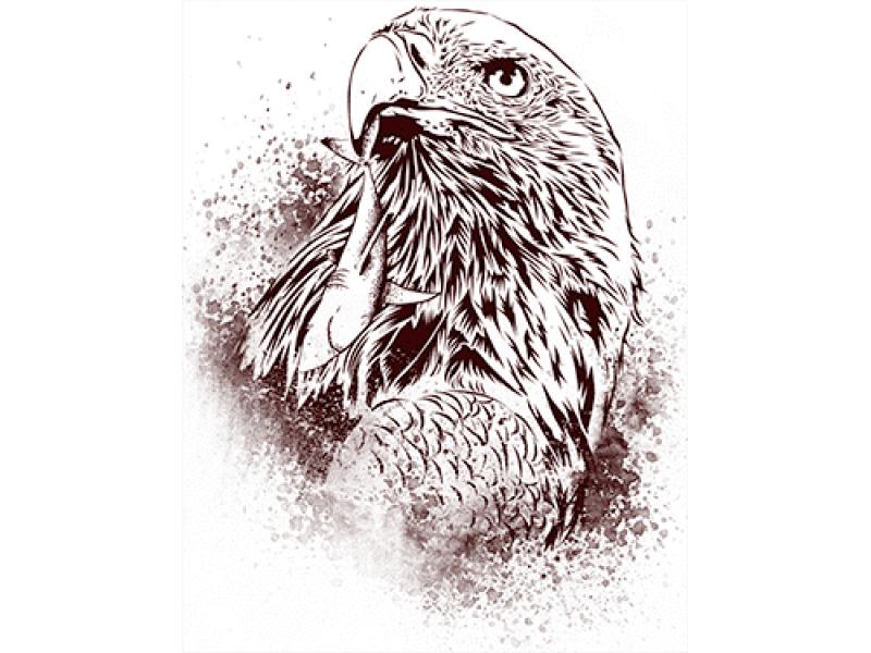"""""""Птица"""" Изображение для нанесения на одежду № 0848"""