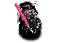 """""""Кот с лучевым мечом"""" Изображение для нанесения на одежду № 0854"""