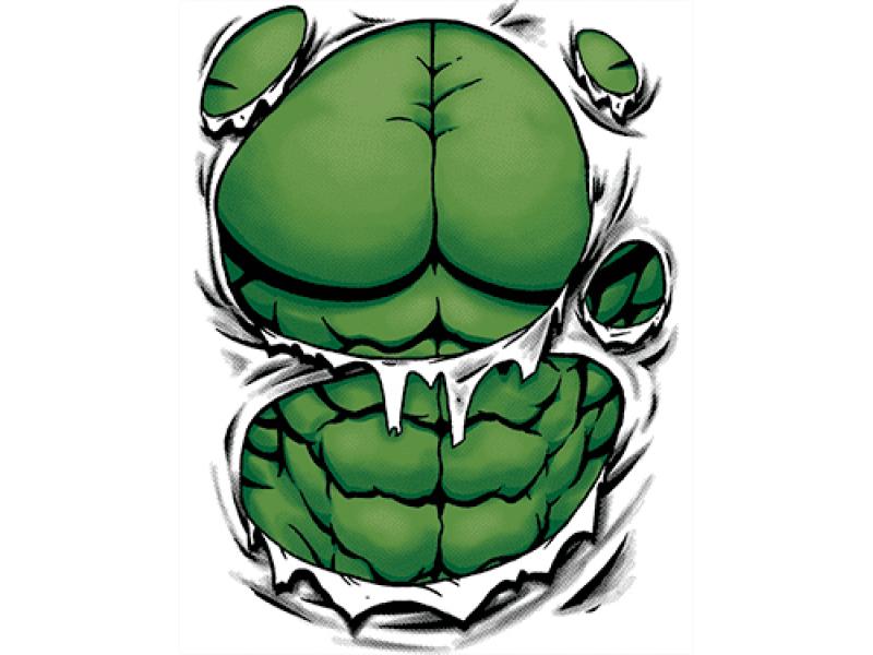 """""""тело черепахи нинзя"""" Изображение для нанесения на одежду № 0855"""