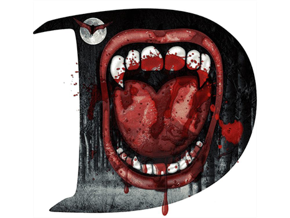 """""""Рот и зубы"""" Изображение для нанесения на одежду № 0856"""