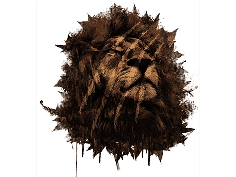 """""""Голова льва"""" Изображение для нанесения на одежду № 0880"""