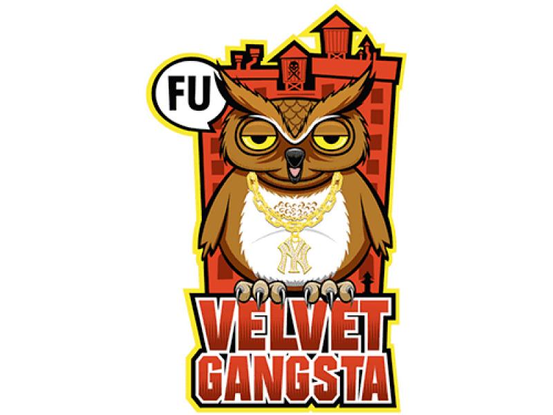 """""""Velvet Gangsta"""" Изображение для нанесения на одежду № 0887"""