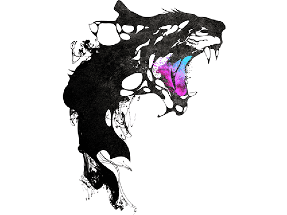 """""""Черная рысь"""" Изображение для нанесения на одежду № 0889"""