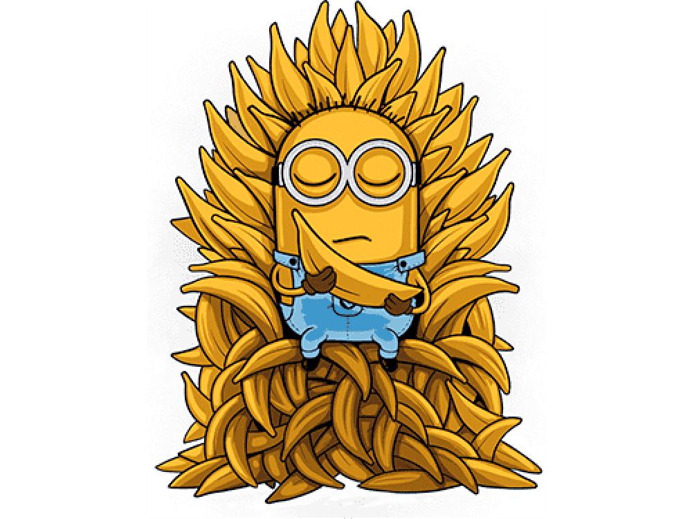 """""""Миньон в бананах"""" Изображение для нанесения на одежду № 0901"""