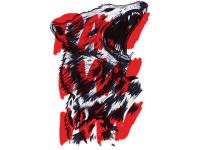 """""""Голова волка"""" Изображение для нанесения на одежду № 0907"""