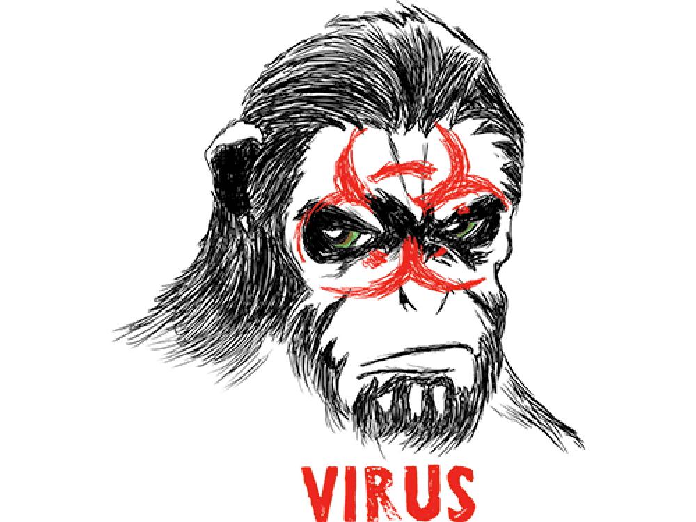 """""""VIRUS"""" Изображение для нанесения на одежду № 0919"""