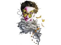 """""""Девушка с бабочкой на лице"""" Изображение для нанесения на одежду № 0925"""