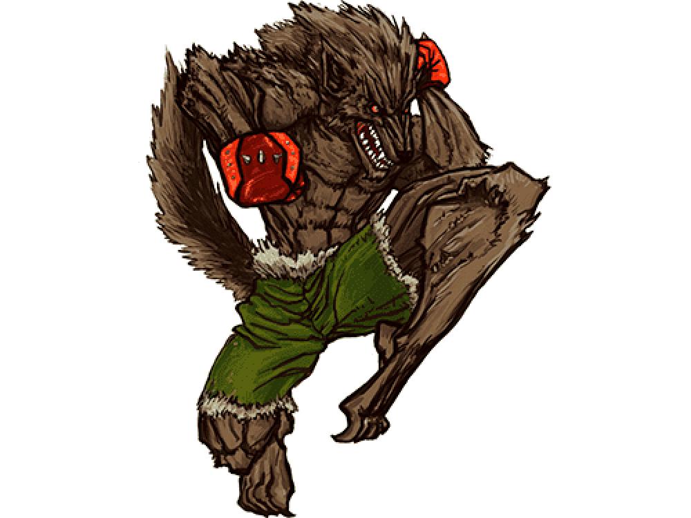 """""""Накаченный волк"""" Изображение для нанесения на одежду № 0930"""