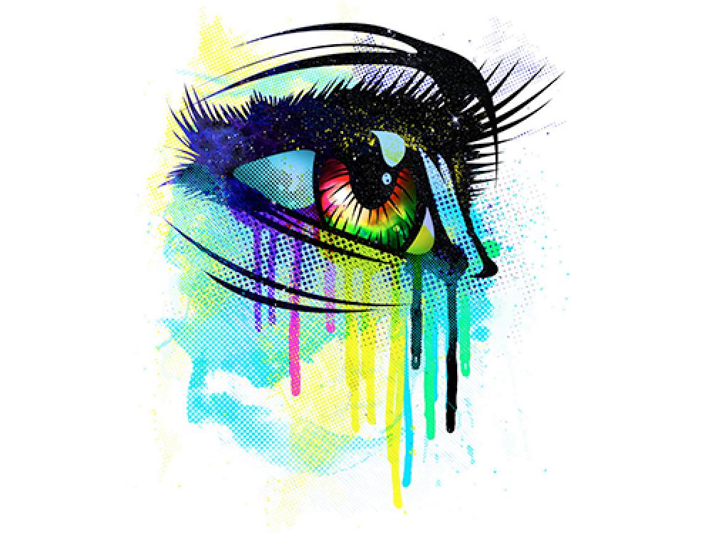 """""""Глаз человека в цвете"""" Изображение для нанесения на одежду № 0951"""